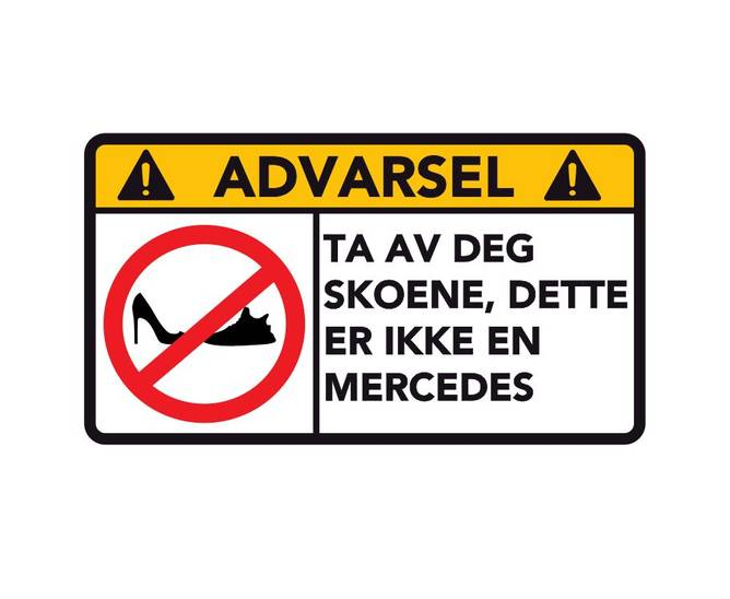 Bilde av Advarsel Dette Er Ikke En Mercedes