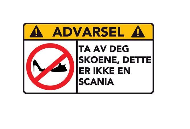 Bilde av Advarsel Dette Er Ikke En Scania