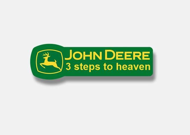 Bilde av John Deere 3 Steps To Heaven Klistremerke