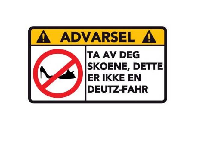 Bilde av Advarsel Dette Er Ikke En Deutz - Fahr