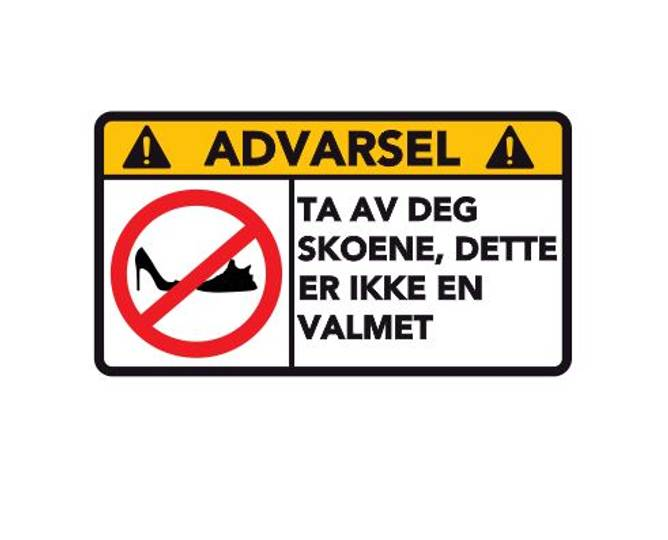Bilde av Advarsel Dette Er Ikke En Valmet