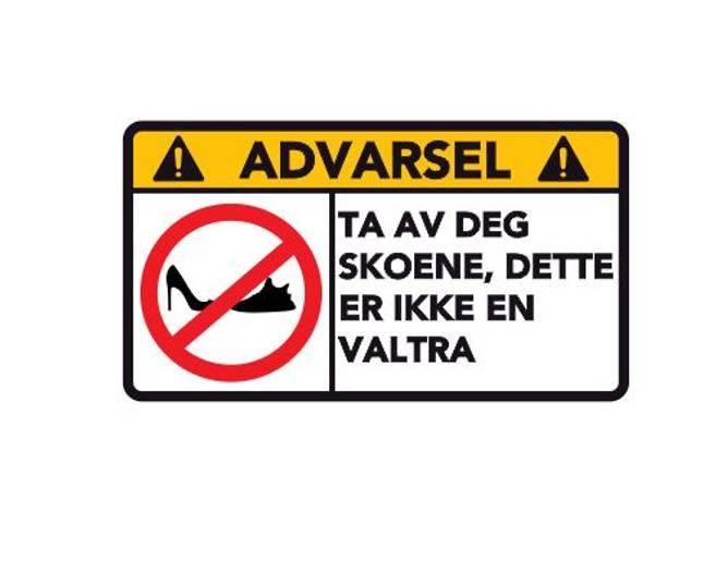 Bilde av Advarsel Dette Er Ikke En Valtra