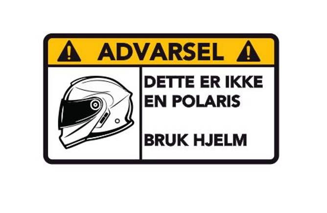 Bilde av Advarsel Dette Er Ikke En Polaris