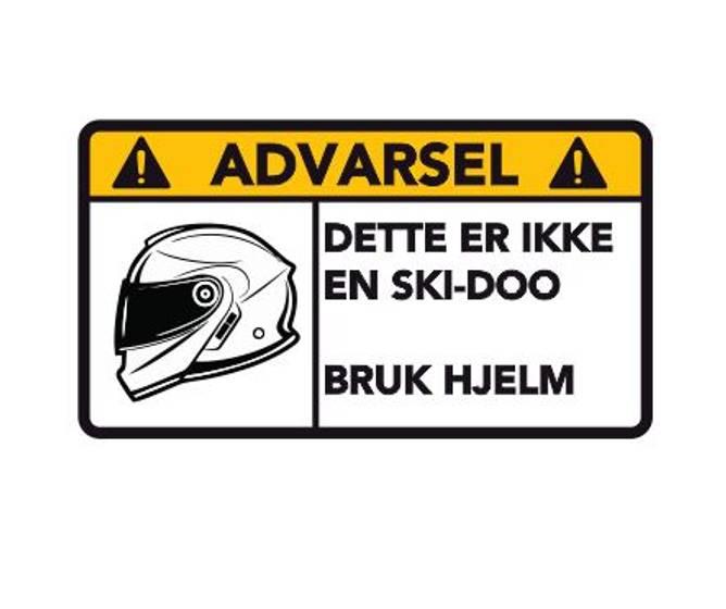 Bilde av Advarsel Dette Er Ikke En Ski - Doo