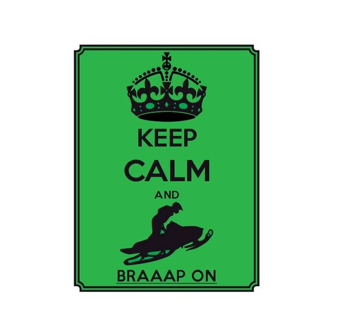 Bilde av Keep Calm And Braap On Grønt Klistremerke
