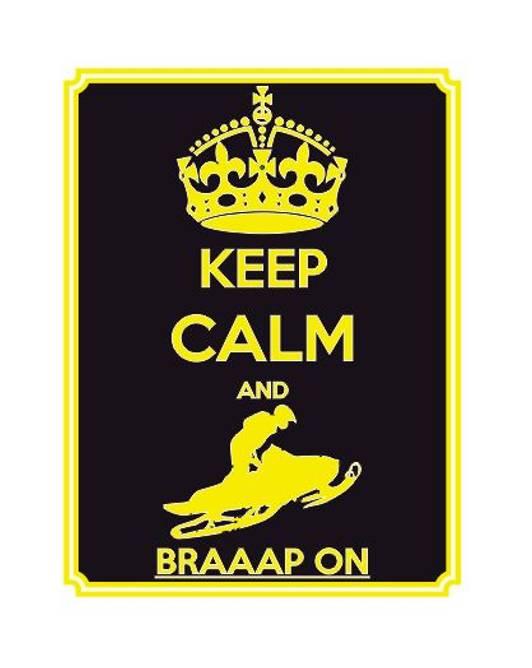 Bilde av Keep Calm And Braap On Gult Klistremerke