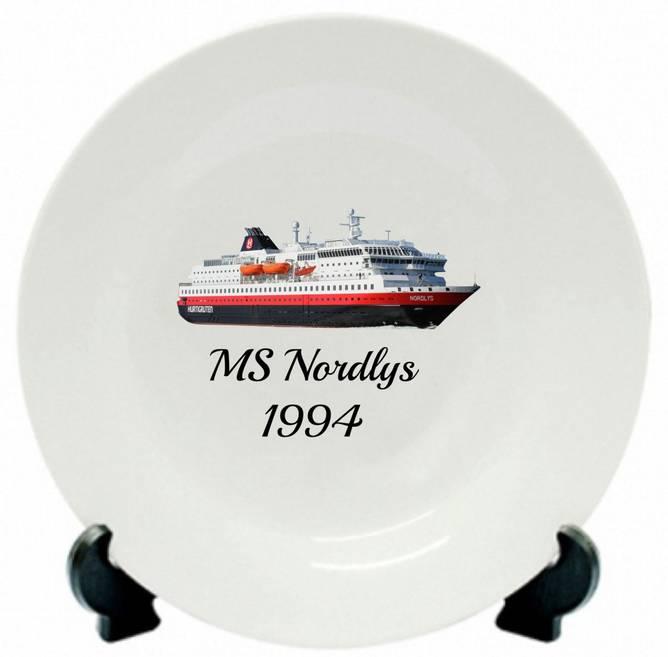 Bilde av Tallerken MS Nordlys 1994
