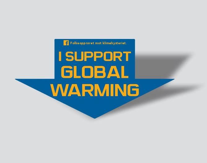 Bilde av I Support Global Warming Klistremerke