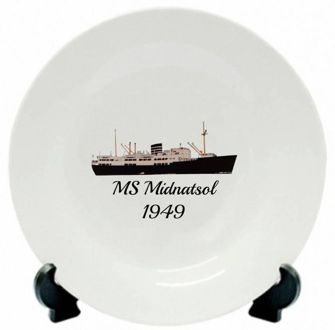 Bilde av Tallerken MS Midnatsol 1949