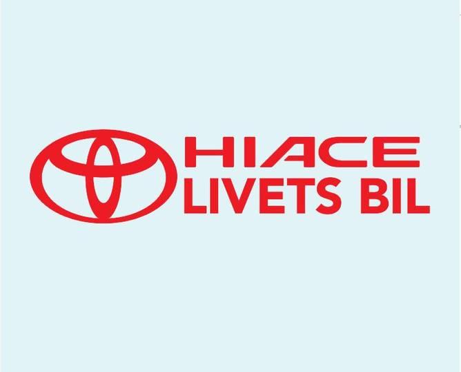 Bilde av Hiace Livets Bil Rød Klistremerke