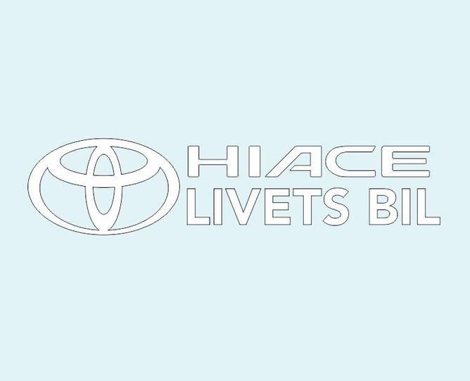 Bilde av Hiace Livets Bil Hvit Klistremerke