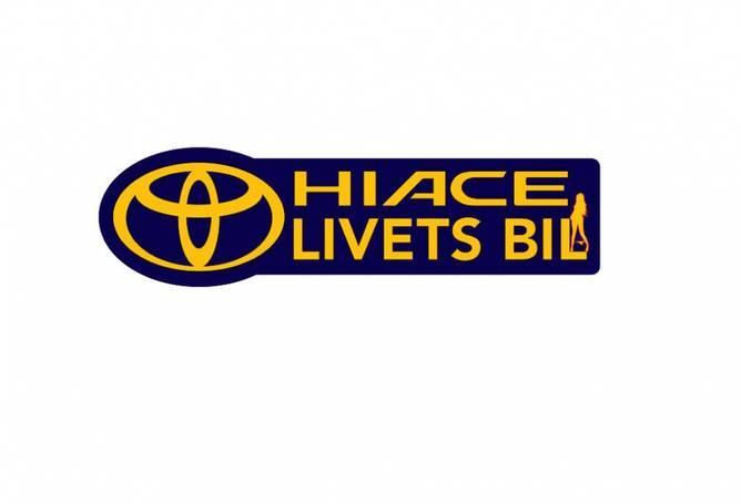 Bilde av Hiace Livets Bil Med Dame Oransje Og Blå