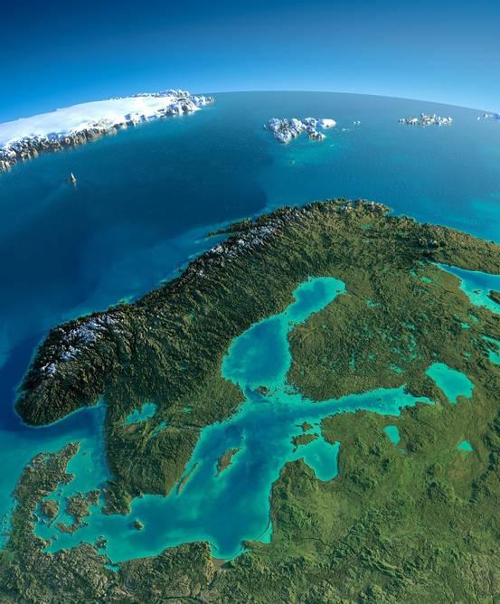Bilde av Norge from space