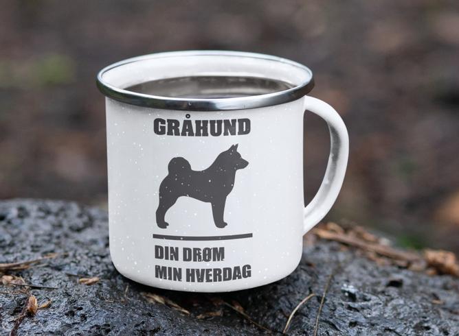 Bilde av Kopp gråhund din drøm min hverdag