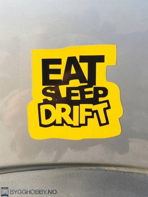Bilde av Eat Sleep Drift Klistremerke