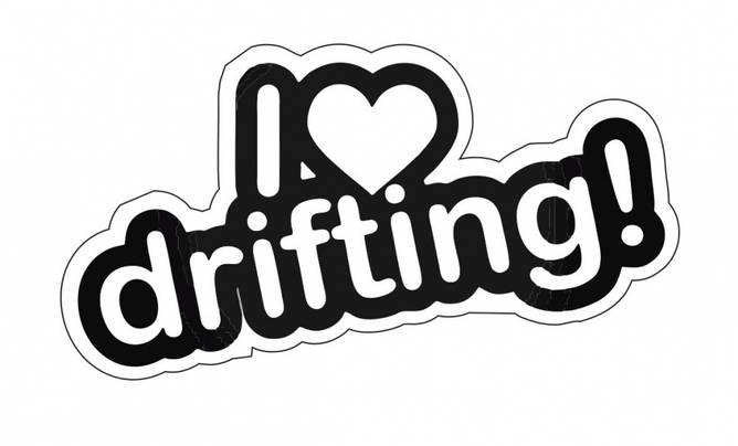 Bilde av I Love Drifting Klistremerke