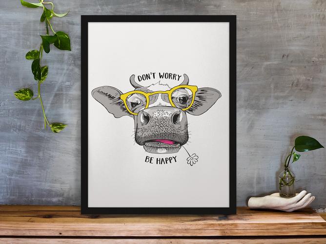 Bilde av Dont Worry Be Happy Plakat