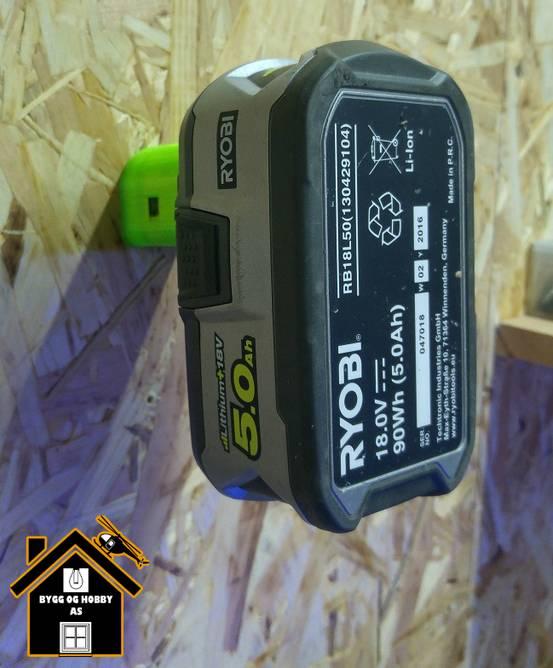 Bilde av Ryobi batteri veggfeste