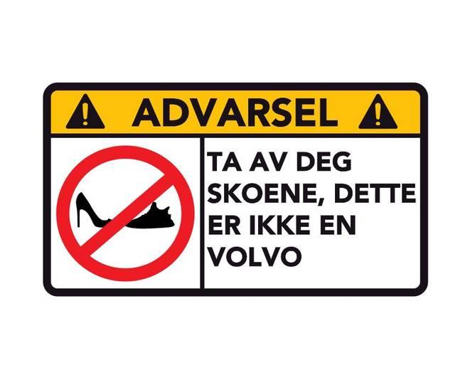 Bilde av Advarsel Dette Er Ikke En Volvo