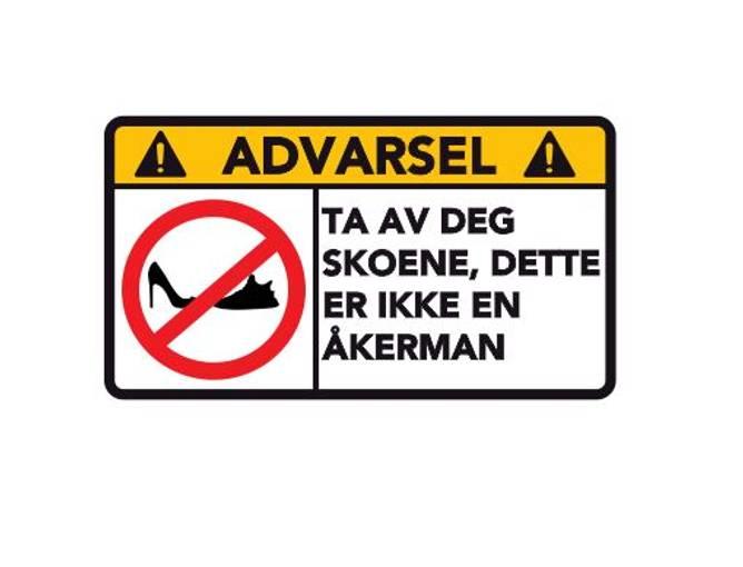 Bilde av Advarsel Dette Er Ikke En ÅKERMAN