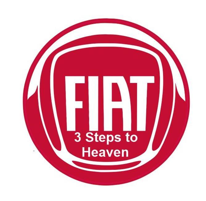 Bilde av Fiat 3 steps to heaven klistremerke