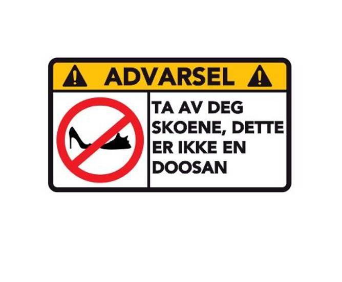 Bilde av Advarsel Dette Er Ikke En DOOSAN