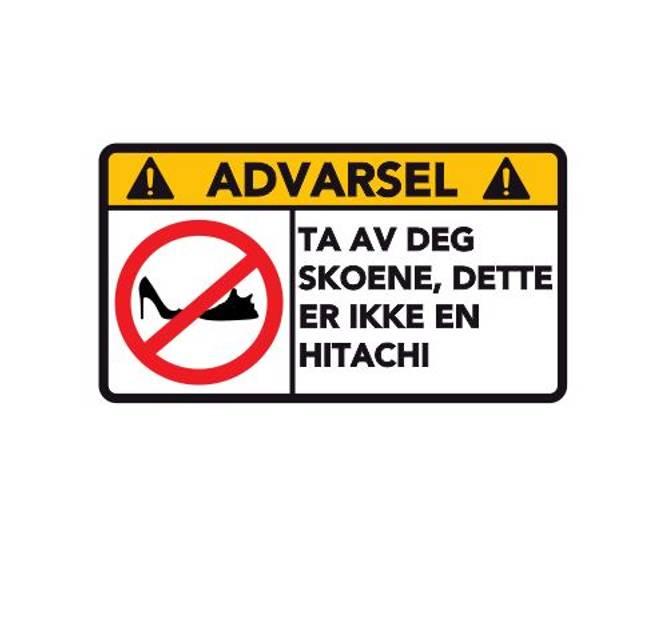 Bilde av Advarsel Dette Er Ikke En HITACHI