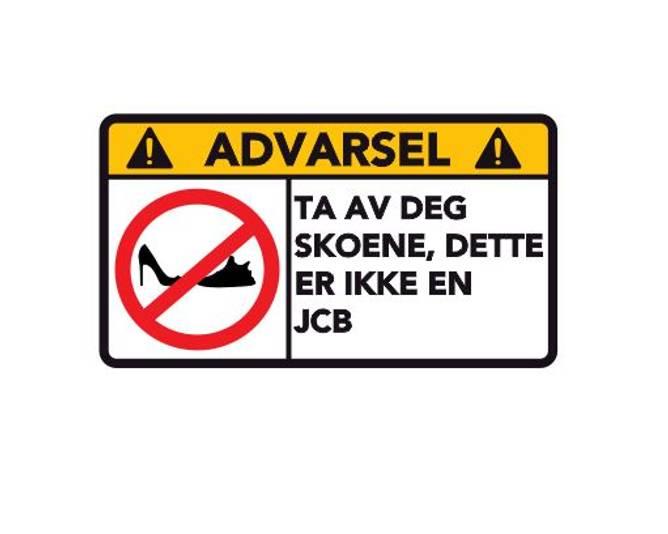 Bilde av Advarsel Dette Er Ikke En  JCB