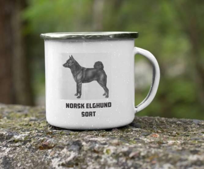 Bilde av Kopp Norsk elghund sort