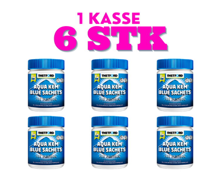 Aqua Kem Blue Sachets 15+3 x 6 bokser