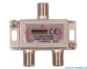 Bilde av Split 2-way til f-connector m/DC-pass