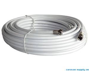 Bilde av Koaxkabel m/2stk f-connector 6,5mm m/hette rull á