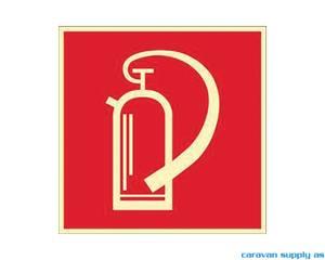 Bilde av Etikett brannslukningsapparat 10x10cm