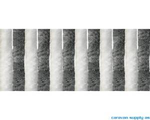 Bilde av Dørforheng Arisol chenille 185x56cm grå/hvit