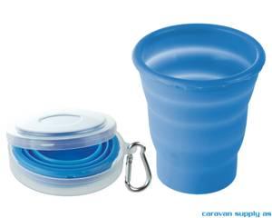 Bilde av Glass Brunner Fold-Away 20cl blå