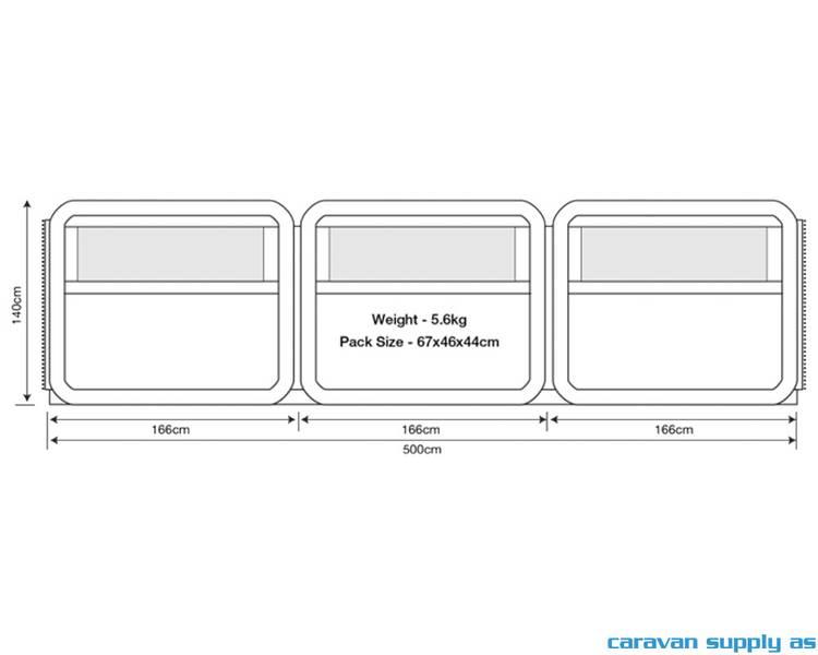 Levegg Oxygen Windbreak 500x140cm grå