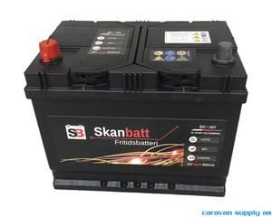 Bilde av Fritidsbatteri SkanBatt 12V 80AH inkl. luftslange