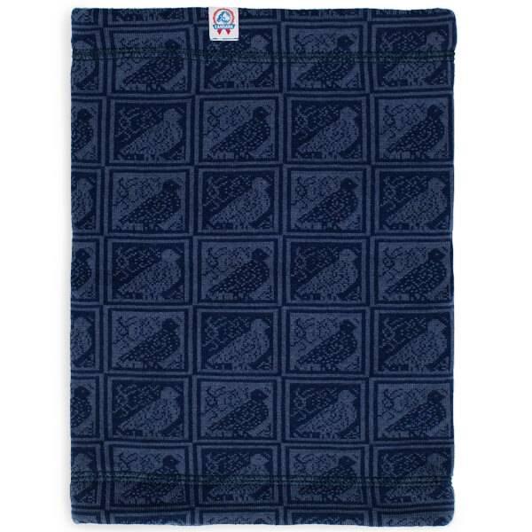 Image of RANA neck warmer grouse pattern - merino wool