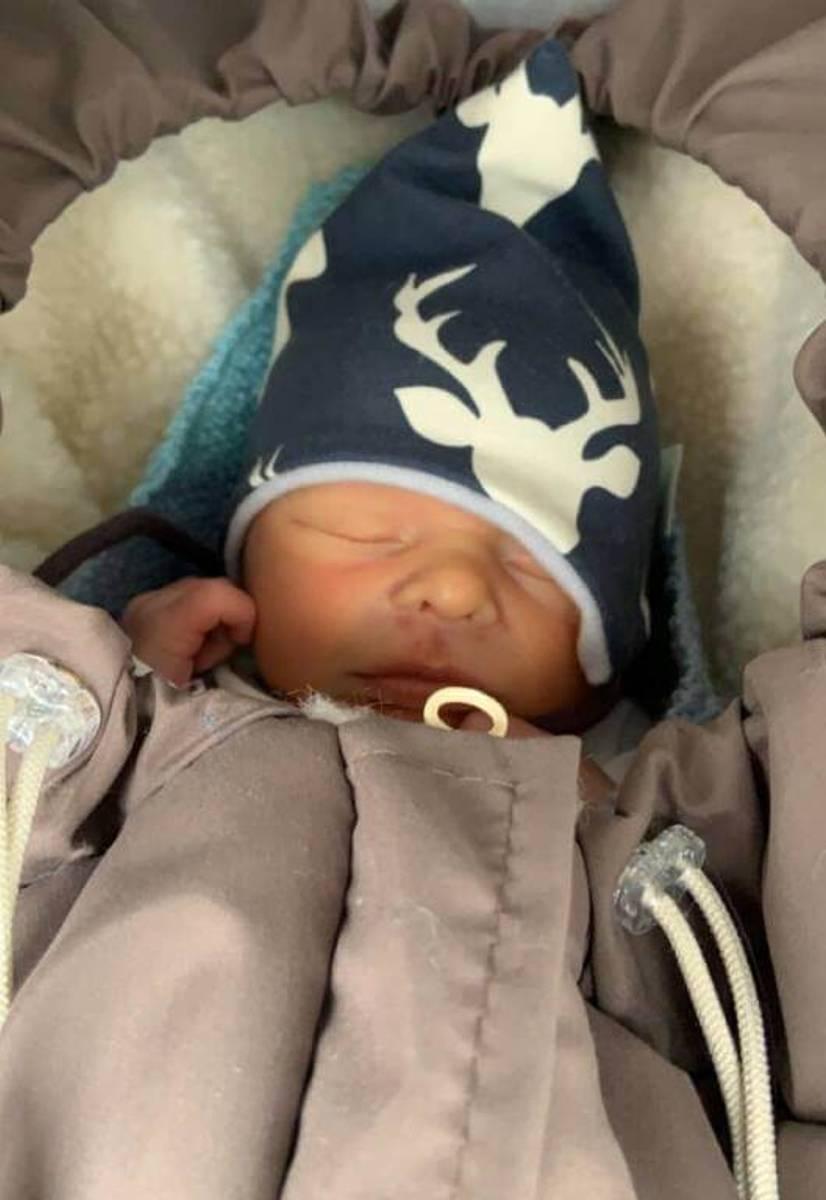 Vognpose baby i ull