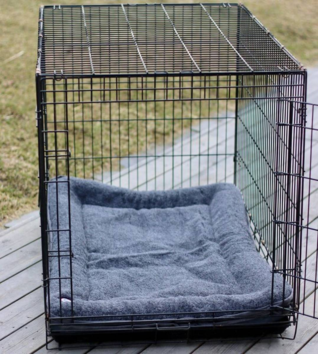 Cage mattress in wool with edge (Dogman steel cage size)