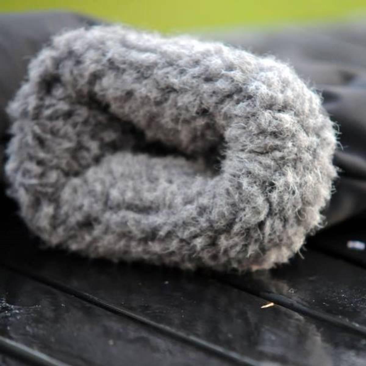 Bjørn votter - vindtett/vannavvisende utenpå, merinoull på innsi