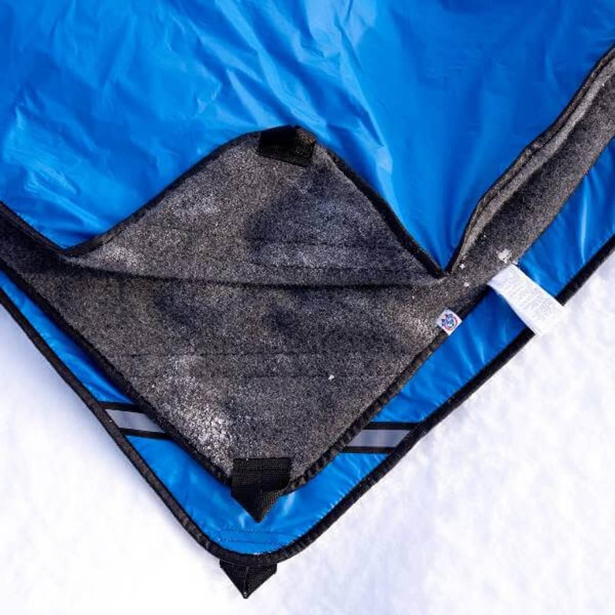 Varmeteppe hund med vindtett ytterstoff (sjekkpunkt-teppe)