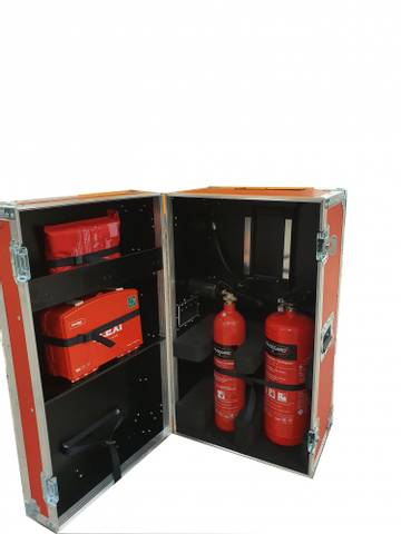Bilde av HMS/Brann kasse med innhold