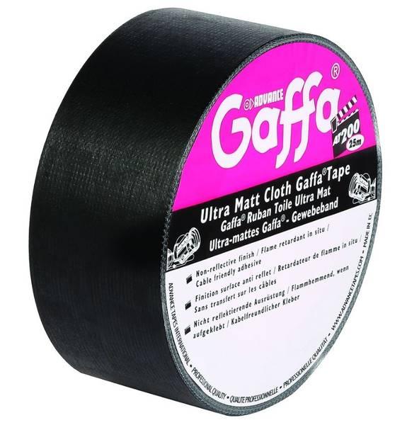 Gaffa Matt Svart 50mm x 50m