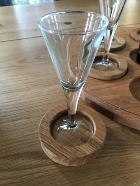Serveringsbrett 6 Glass og flaske