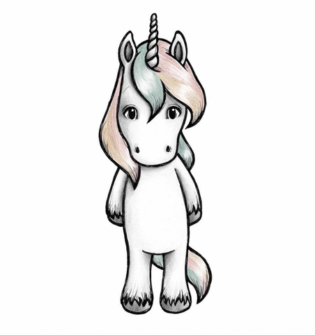 Bilde av Wallsticker - Joy the unicorn - Stickstay