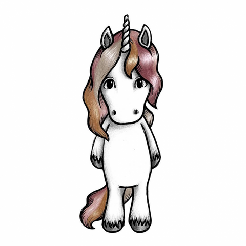 Bilde av Wallsticker - Rose the unicorn - Stickstay