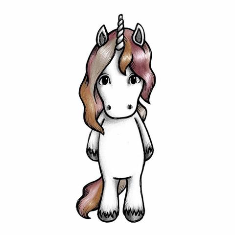 Bilde av Wallsticker - Rose the unicorn - Stickstay