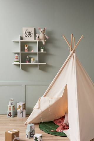 Bilde av Tipi Telt Off White - Kids Concept