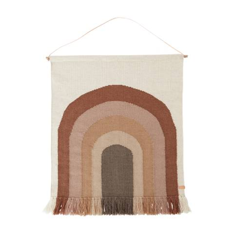 Bilde av Follow The Rainbow Wall Rug (Choko) - Oyoy